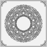 Decorative, arabesques mandala/rosette Stock Image