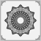 Decorative, arabesques mandala rosette Royalty Free Stock Photos