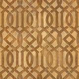 Decorative Arabic pattern - Interior Design wallpaper. Interior wall panel pattern - seamless background - geometric shapes - wood texture Royalty Free Stock Photo