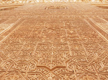 Decorative arabic reliefs. Alhambra Stock Images