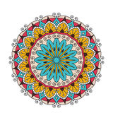 Decorative arabic round lace ornate mandala. Vintage vector pattern for print or web design. abstract colorful Stock Image