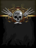 Decorative art background with skull Stock Photo