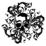 Decorative art background with skull Royalty Free Stock Photo