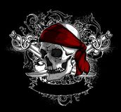 Decorative art background with skull,  high detailed realistic i Royalty Free Stock Image