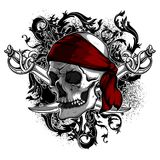 Decorative art background with skull, , high detailed realistic Royalty Free Stock Photography