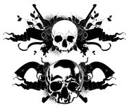 Decorative art background with skull Royalty Free Stock Images