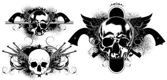 Decorative art background with skull Royalty Free Stock Photos
