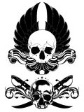 Decorative art background with skull Royalty Free Stock Image