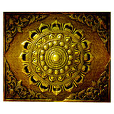 Decorative Art of Lanna Thai. Engraving of the gold value royalty free stock photos