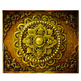 Decorative Art of Lanna Thai. Royalty Free Stock Photo
