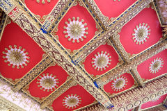 Decorative art of temple wall. Royalty Free Stock Image