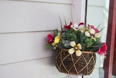 The decorative artificial flower bouquet Stock Images