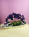 Decorative artificial flowers Stock Image