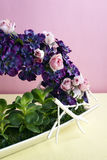 Decorative artificial flowers royalty free stock images