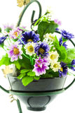 Decorative the artificial flowers in pot Stock Photos