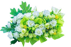 Decorative artificial green flowers Royalty Free Stock Photos