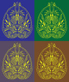 Decorative Asia symbol like paisley handmade ornam Royalty Free Stock Image