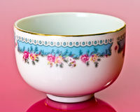 China bowl. Closeup of decorative Thai china bowl with a floral pattern royalty free stock photo