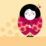 Decorative asian style doll Royalty Free Stock Photography
