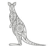 Decorative Australian kangaroo. Royalty Free Stock Photos
