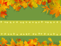 Decorative autumn background Stock Image