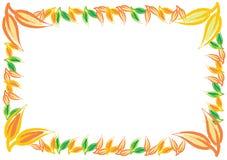 Decorative autumn border frame with color leaf. Decorative autumn border frame, vector template with color leaf Stock Illustration
