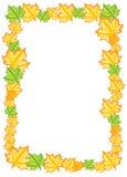 Decorative autumn border frame with color leaf. Decorative autumn border frame, vector template with color leaf Vector Illustration