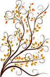 Decorative autumn tree Royalty Free Stock Photography