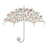 Decorative autumn umbrella Royalty Free Stock Image