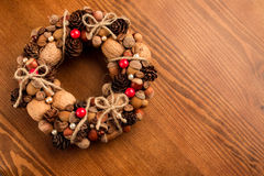 Decorative autumn wreath Stock Photography