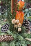 Decorative autumnal flower arrangemen Royalty Free Stock Photos