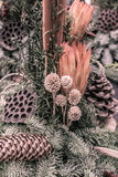 Decorative autumnal flower arrangemen Royalty Free Stock Image
