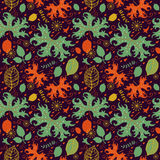 Decorative autumnal pattern Royalty Free Stock Images