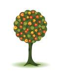 Decorative autumnal tree Royalty Free Stock Photo