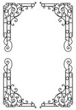 Decorative award frame. Design Element. Vectorized Art Nouveau frame Design. Design Element Stock Photos