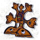 Decorative Aztec tree. Vector illustration of decorative Aztec tree Stock Photography