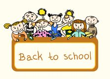 Decorative back to school background Royalty Free Stock Photo