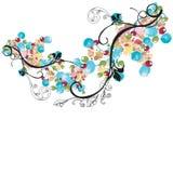 Decorative background. Illustration of a decorative background Stock Image