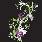 Decorative background. Illustration of a decorative background with flowers Royalty Free Stock Images