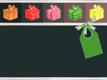 Decorative background. With ribbon, bow and presents Royalty Free Stock Image