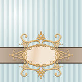 Decorative Background. An illustration of a floral label for a decorative background Royalty Free Stock Photos