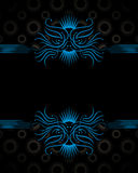 Decorative Background. A background illustration of a repeating decorative pattern with space for text Royalty Free Stock Images
