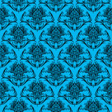 Decorative Background. A background illustration of a repeating decorative pattern background Stock Photos