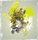 Decorative background,. Grunge & floral ornaments royalty free illustration
