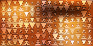 Decorative background abstract orange triangles flash spots Stock Images