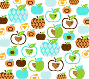 Decorative background. With apples, vector illustration Stock Images