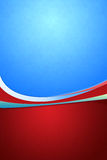 Decorative Background in Blue & Red Royalty Free Stock Photo