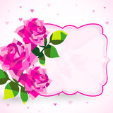 Decorative background or card with roses Stock Photos