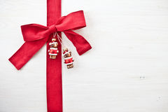 Decorative Background with christmas ornaments Stock Photo