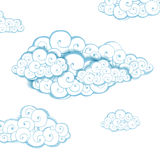 Decorative background with clouds Stock Image
